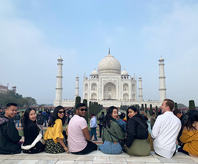 India practicum students at the Taj Mahal